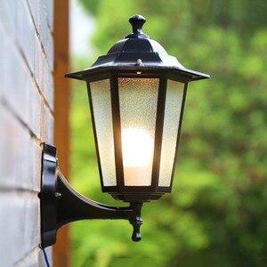 Retro Garden lights outdoor waterproof Lighting outside balcony/corridor/garden/yard/villa E27 LED Industrial glass Wall Lamps