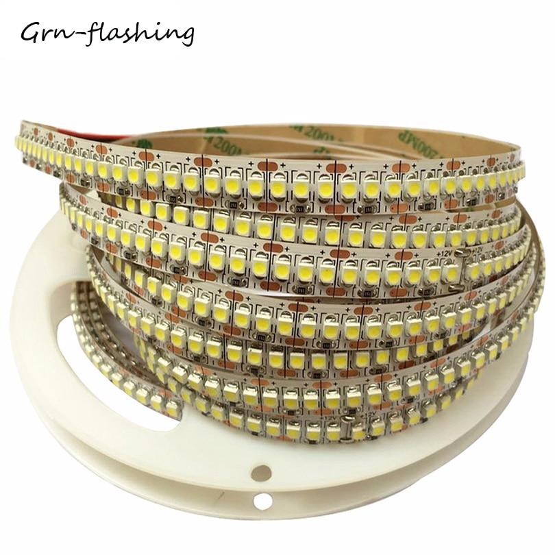 Ультра яркая светодиодная лента 240LED/m 1 м 2 м 3 м 4 м 5 м СВЕТОДИОДНАЯ лента SMD 3528/2835 DC12V гибкая светодиодная лента