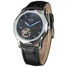 Skeleton Stream Punk Dial Designed Fashion Men's Watches Top Brand Automatic Mechanical Men Watch Clock reloj hombre montre
