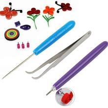 3Pcs Pinzette Quilling Nadeln Schlitz Stift Werkzeug Kit Quilling Papier DIY Set Für klassenzimmer shop hochzeit party dekoration Papier werkzeug