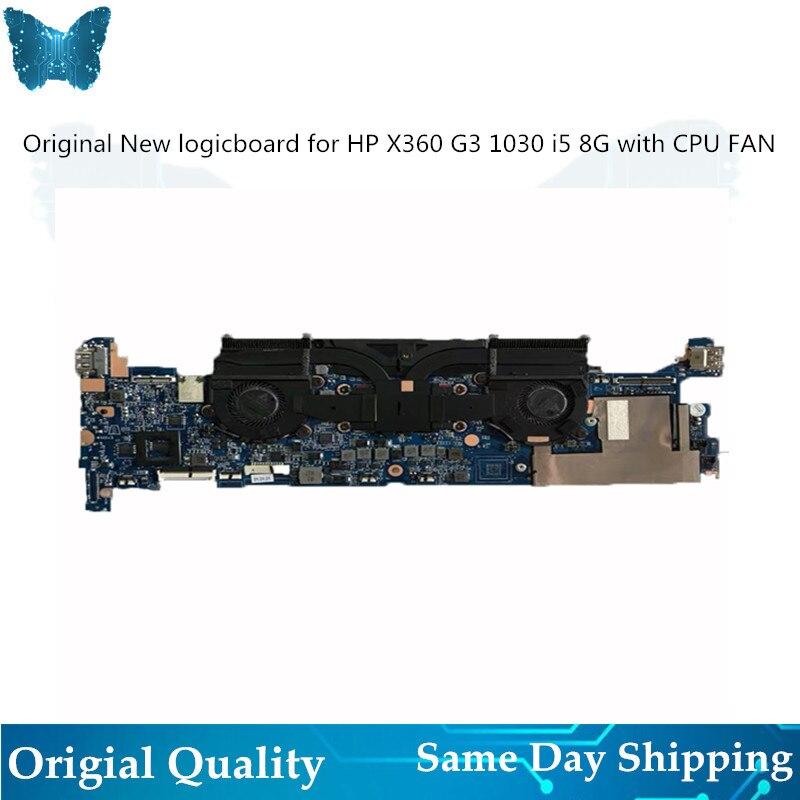 Original Nova placa Lógica para Hp X360 1030 G3 motherboard DA0Y0PMBAE0 L34280-001 I5 8G