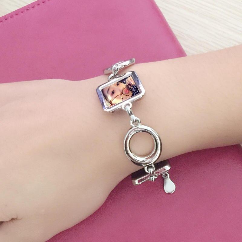 Термотрансферные браслеты с принтом, индивидуальный дизайн, сублимационный браслет, чистый материал