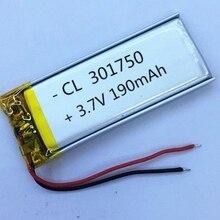 Nouveau 190 mAh 031750 3.7 V lithium polymère batterie 301750 pour enregistrement stylo affaires Mp3 Mp4 Mp5 bricolage PAD DVD E-book bluetooth headse