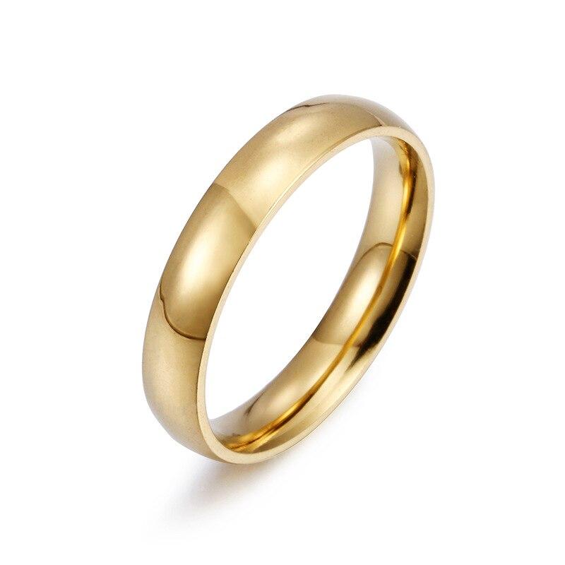 1 pieza caliente Simple Unisex 4mm mujeres hombres aniversario sólido parejas anillos...