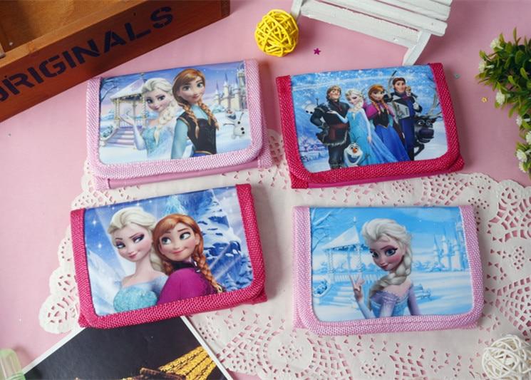Disney frozen children cartoon short cute wallets toy handbags primary school gift coin purses princess boys car hand bags