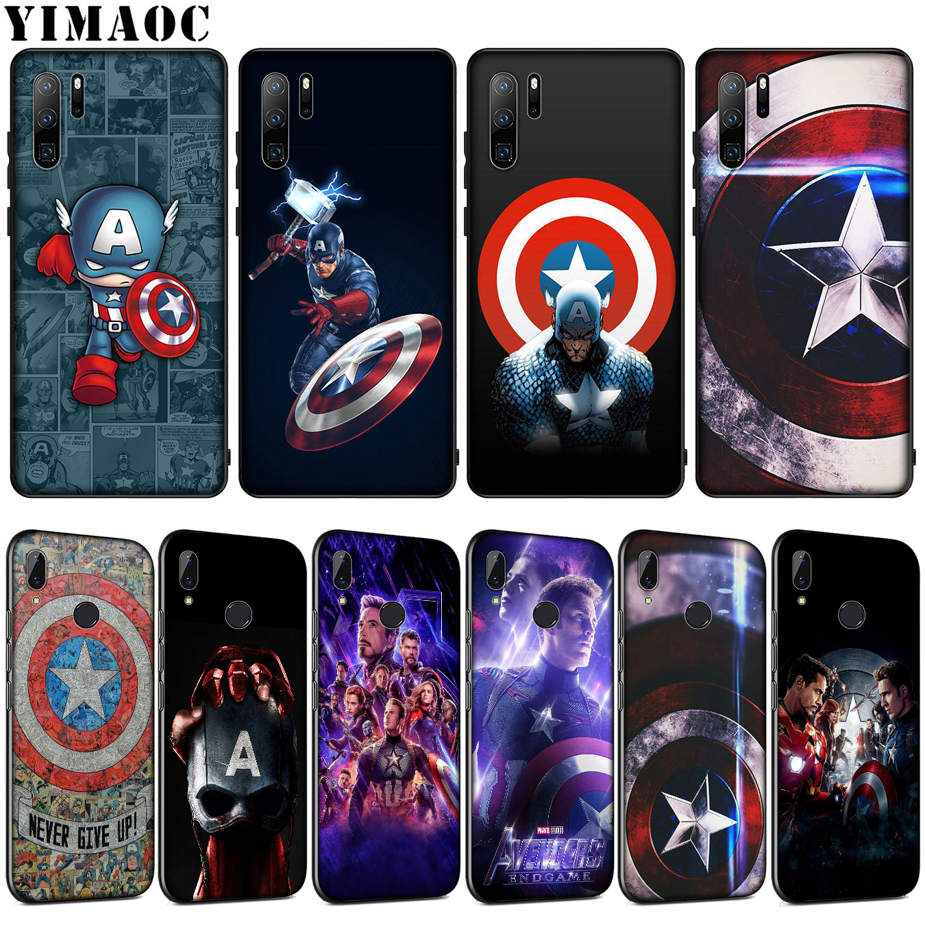 Мягкий силиконовый чехол YIMAOC Marvel Captain America shield для Huawei P30 P20 Pro P10 P9 Lite Mini 2017 2016 Cover P Smart Z 2019