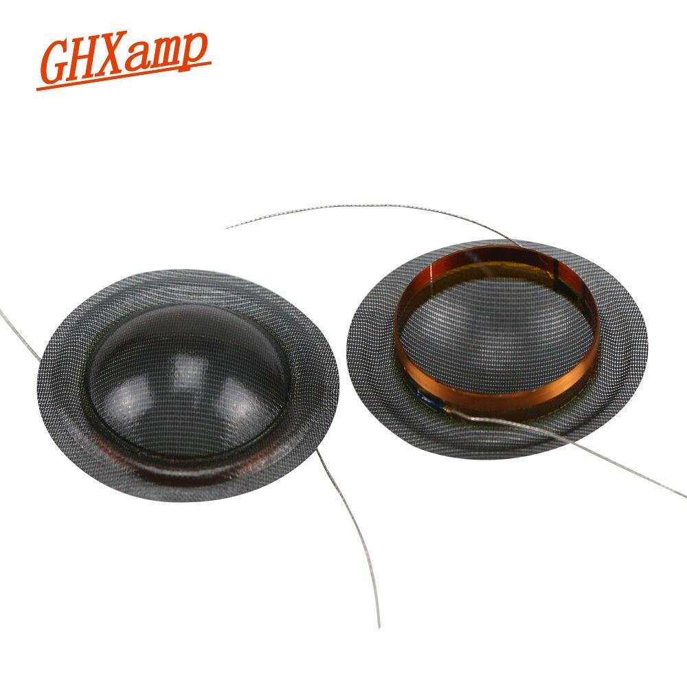 GHXAMP 20 núcleos 20,4 MM triple Bobina de voz KSV 8OHM altavoz Accesorios de reparación Tweeter cristal translúcido diafragma de seda DIY 2 uds