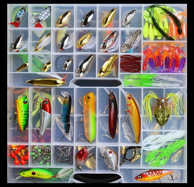 168 piezas cebo señuelos traje de mar de agua dulce traje con lentejuelas Minuo Bo grilled insectos suaves señuelo pesca aparejos Ray rana