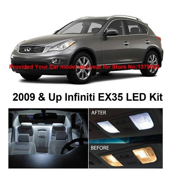 LED Interior Lights For Infiniti EX35 2009 & Up Car Auto automotive Reading dome light bulbs lamp for cars 13Pcs/Lot