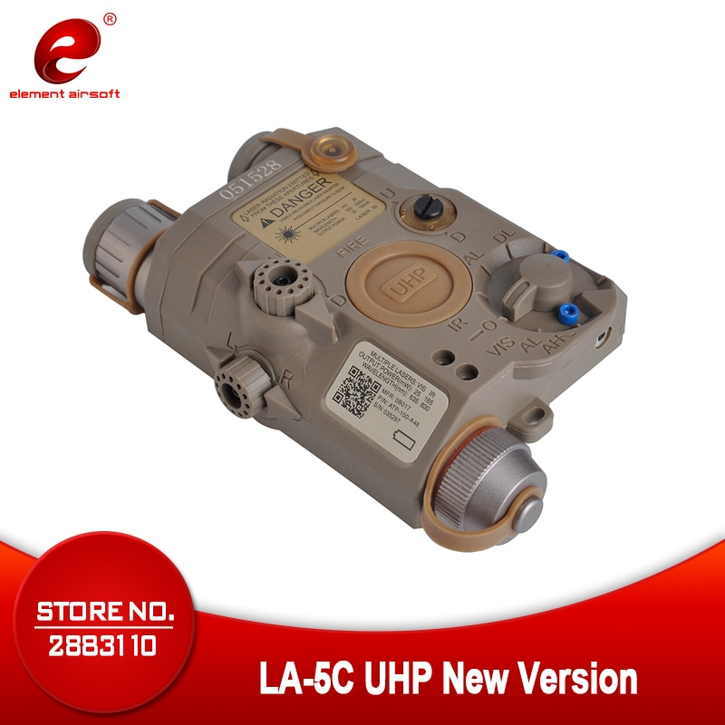 Táctico element airsoft linterna PEQ-15 LA-5C UHP IR láser verde de luz láser PEQ15 armas arma luz PEQ 15 EX419