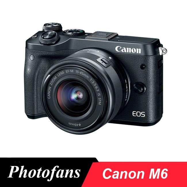 Canon M6 Spiegellose Digital Kamera mit 15-45mm Objektiv