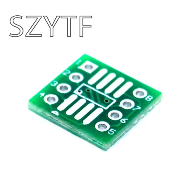 50 unids/bolsa placa adaptadora SOP8 SSOP8 TSSOP8 SMD a DIP 0,65/1,27mm paso