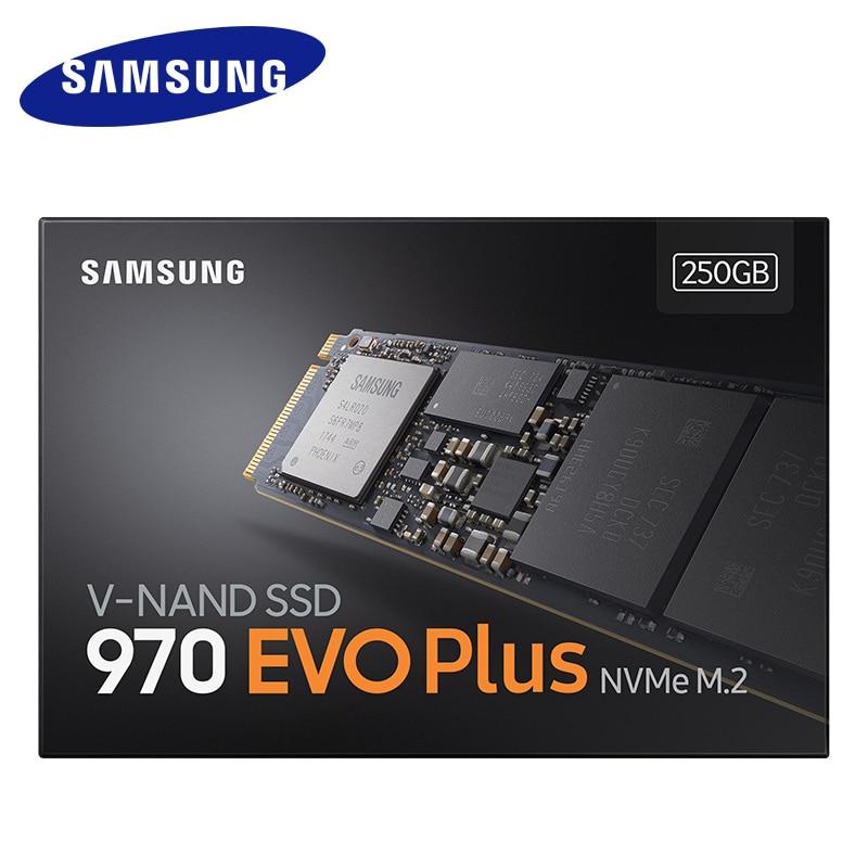 Samsung 970 EVO Plus SSD NVMe M.2 2280 SSD 250GB 500GB 1TB M.2 interna de unidad de estado sólido de TLC SSD PCIe 3,0x4 NVMe 1,3 portátil