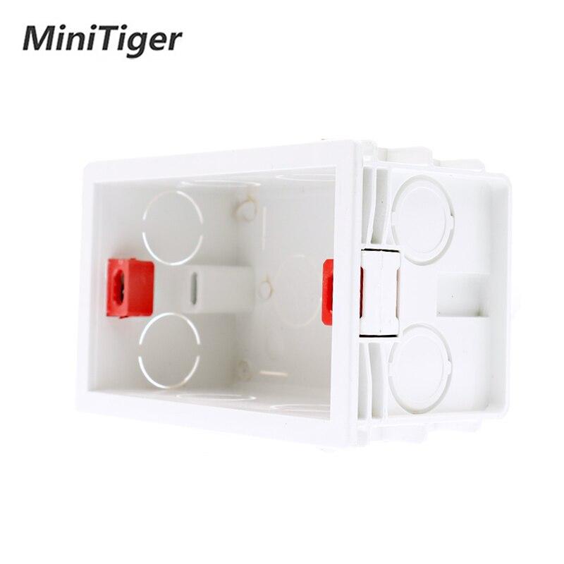 Minitiger, caja de montaje interna estándar de ee.uu. de 101mm * 67mm, Cassette trasero para Interruptor táctil de pared estándar de 118mm * 72mm y enchufe USB