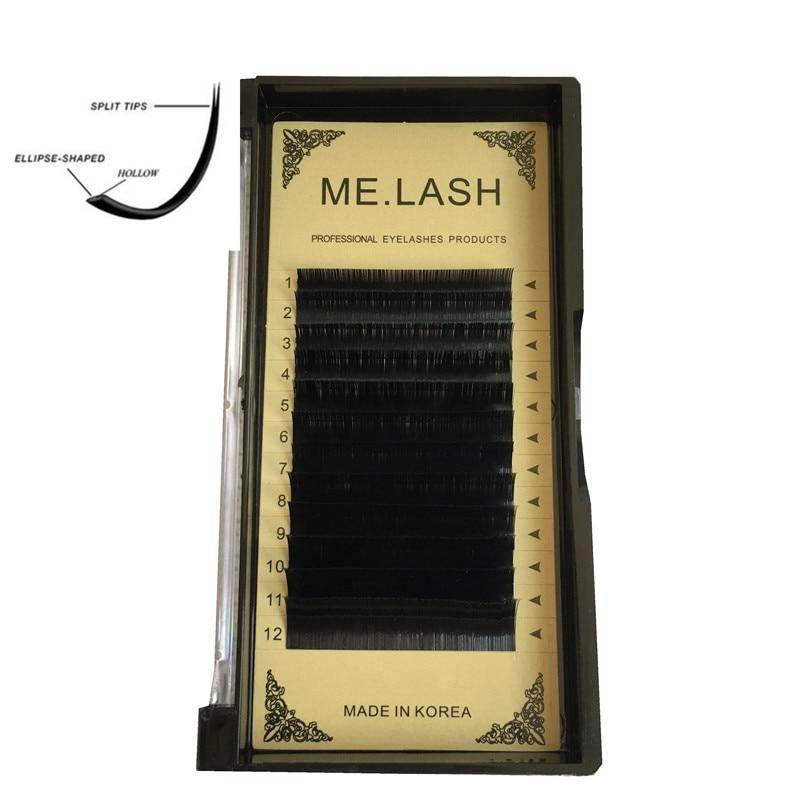 ME.LASH 10 лотков/партия, новые тонкие кончики для наращивания ресниц Ellipse, экономя время, мягкие 3D Искусственные корейские норковые волосы, ресн...