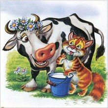 Full new 5D Diamond Embroidery Cows and cat Cross Stitch Diamond Painting Animal rhinestones Home Decor gift