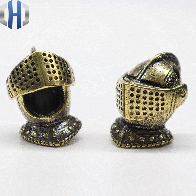 Cavaleiro Medieval Europeu Faca Pingente de Bronze de Cobre puro Pode Abrir Faca EDC Paracord DIY Contas Frisado Tecidos Faca Pingente de Contas