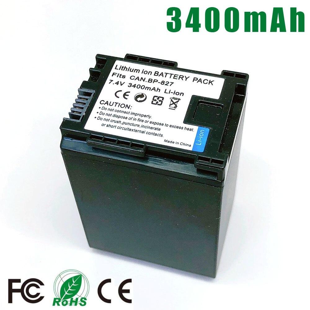 BP-827 BP827 BP 827 bateria para CANON BP-819 BP-807 BP-809 HG31 XA10 HF20 HF10 HF100 HF100E HG20 HG21 HF11 HFS100 HG31 XA10 HF20