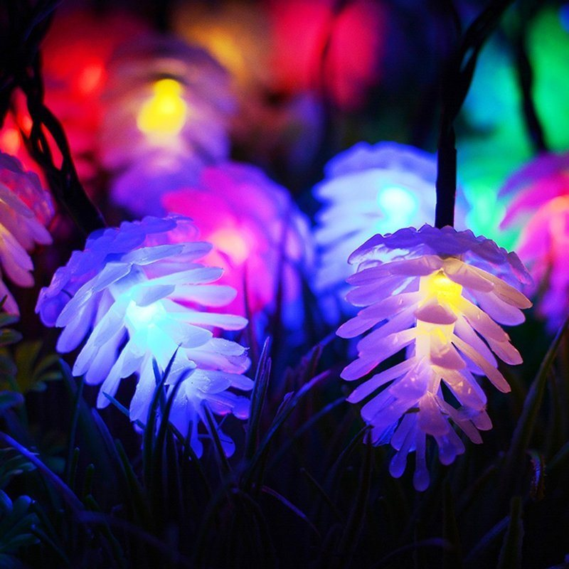 new year garland led christmas lights outdoor luces navidad led cristmas lights decoration waterfull string light luzes de natal 10M Pine Cone Garlands LED Christmas Lights Outdoor Indoor New Year Decoration Garland LED Fairy String Lights Luzes De Navidad