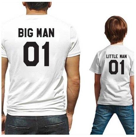 Homem grande imprimir na parte traseira de algodão modal família roupas combinando olhar família pai filho t-shirts KT-2040