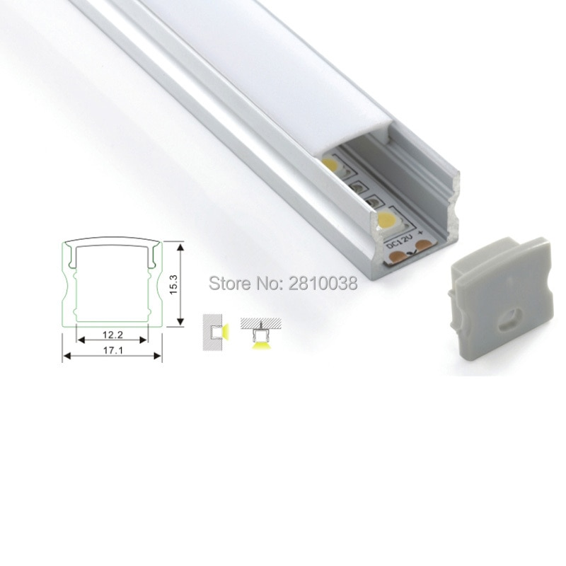 100 x 1M Sets/Lot U shape Surface mounting led aluminum profile channel for recessed wall or flooring lighting
