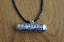 SL027 tibétain 925 en argent sterling boîte de prière pendentifs Tibet huit bon augure cylindre GAU boîte amulette à la main népal bijoux