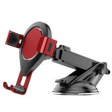 Support de téléphone de voiture ventouse en appuyant sur gravité réglable télescopique support de téléphone portable support de téléphone de voiture
