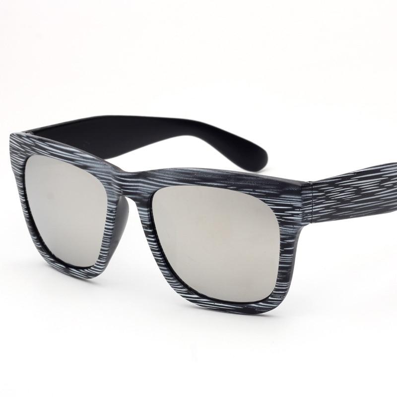 Gradient Square Sunglasses Women Grain Bamboo Sunglasses Joker Restore Ancient Ways Men Sun Glasses UV400