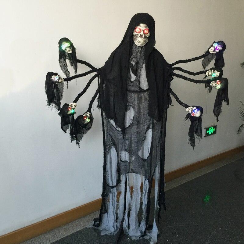 6 Meter Hoch Riesigen Spooky Stehen Geist mit leuchten Augen für Horror Gejagt Haus Halloween Dekorationen