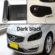 0.3x9m/Roll Car styling Dark black Car Light Headlight Taillight protect Film Sticker Lamp Sticker Brake Light Car Accessories