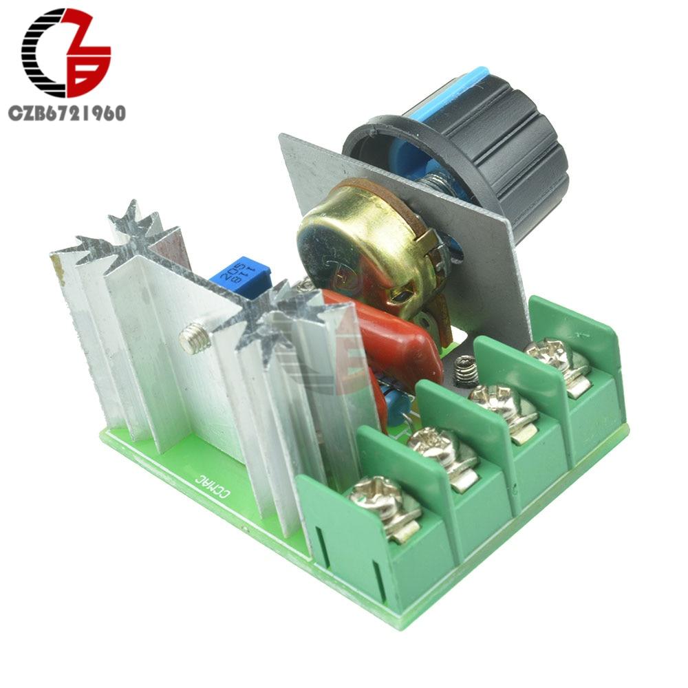 aliexpress.com - 2000W Voltage Regulator SCR Speed Controller Adjustable Motor Speed Regulator Governor AC 220V Temperature Dimmer Switch Control
