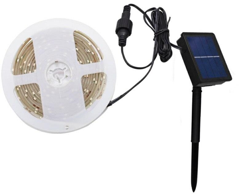 Decoración del hogar blanco cálido/blanco frío/tira Led Rgb Solar integrada batería recargable luces de Navidad 3M SMD2835 CREE LED