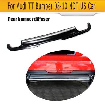 Car Rear Bumper Lip Diffuser For Audi TT 8J Standard Bumper 08-10 Not For US Car Rear Bumper Diffuser Black PU