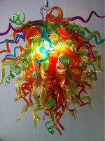 Colorful Crystal Lighting Modern Hand Blown Glass Chandelier Led Home Lamps Living Room Dining Room Bedroom Art Glass Lighting