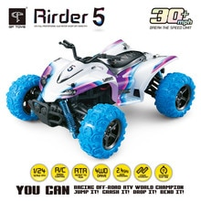 Alta Velocidad 4WD 124 40 KM/H 2,4G 5 Monster Trucks con Control remoto fuera de la carretera motocicleta al aire libre RC coche para niños juguetes regalo