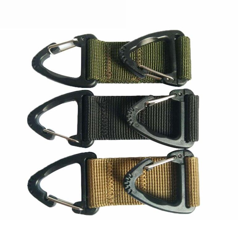 Outdoor EDC Webbing Belt Clip Climbing Carabiner Nylon Ribbon Eagle Hook Buckle Tactical Backpack Bag Hanging Chain Equipment