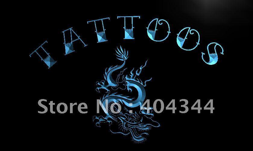 LB931-tatuaje dragón chino arte letrero de neón con luz LED manualidades decorativas para el hogar