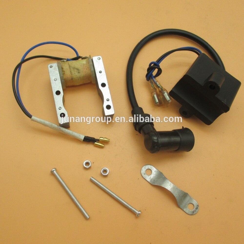 Alternador & cdi da bobina de ignição do estator de magneto para 49cc 60cc 66cc 80cc 2 tempos motor motorizado bicicletas