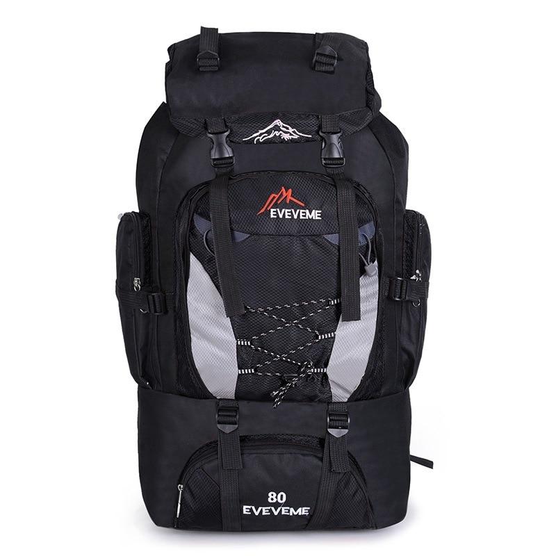 Mochila impermeable 80L unisex para hombre, mochila de viaje, mochila deportiva, Montañismo al aire libre, senderismo, escalada, Camping, mochila para hombre