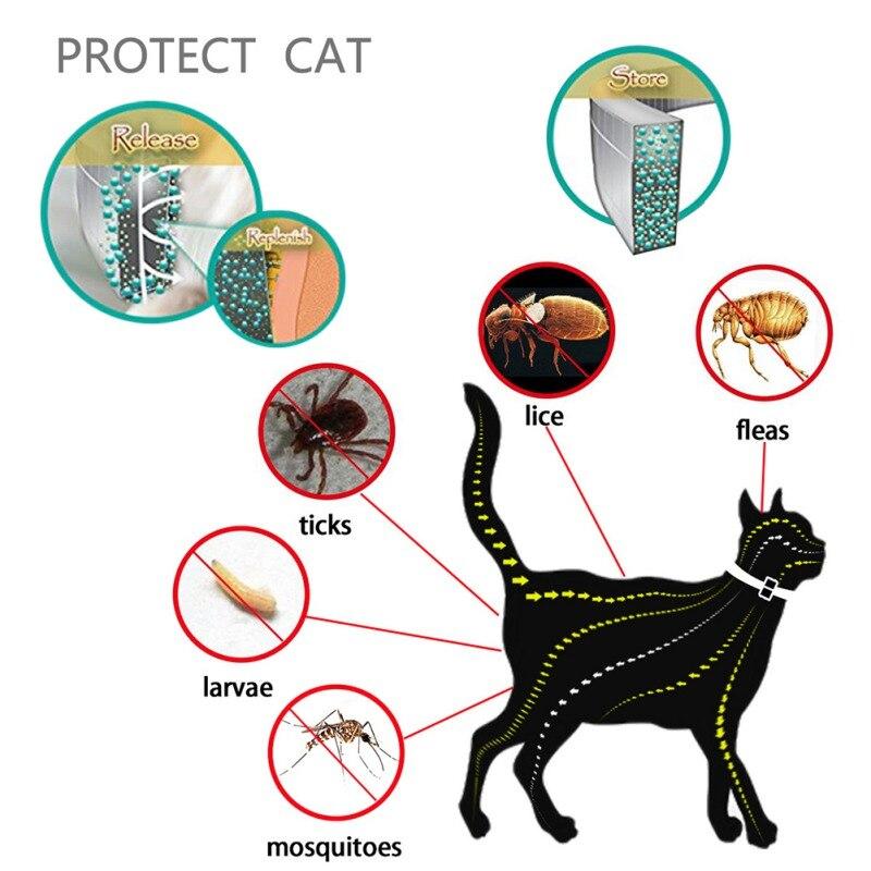 Natural Herbal Essential Oils Waterproof Adjustable Pet Collar 1 Month Anti Flea Insect Pet Dog Cat Collar