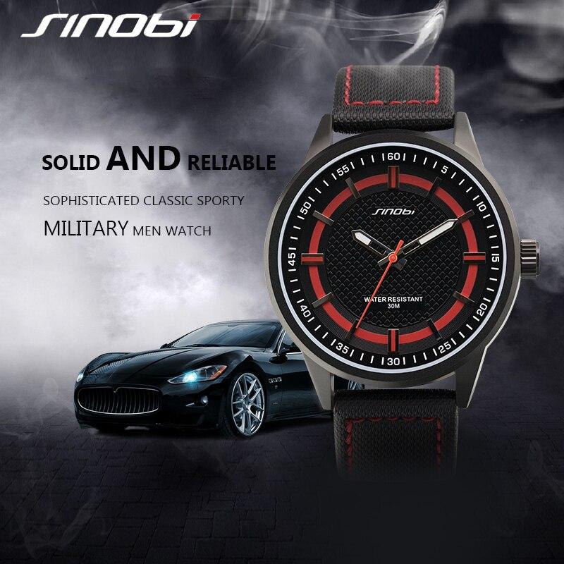 Reloj militar para hombre SINOBI, relojes de pulsera de cuarzo a la moda, reloj deportivo para hombre Geneva, relojes fuertes del ejército para hombre, relojes de la Marina Masculino