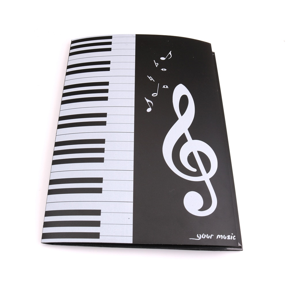 Música de cuatro lados Clips de música de Piano A4 tres pliegues expansión de seis páginas música de Piano carpeta tipo hoja carpeta de música