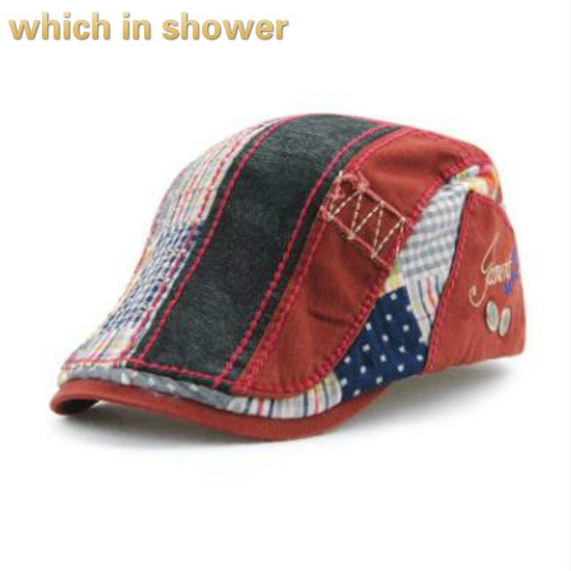 Повседневная полосатая плоская кепка для женщин и мужчин высококачественные