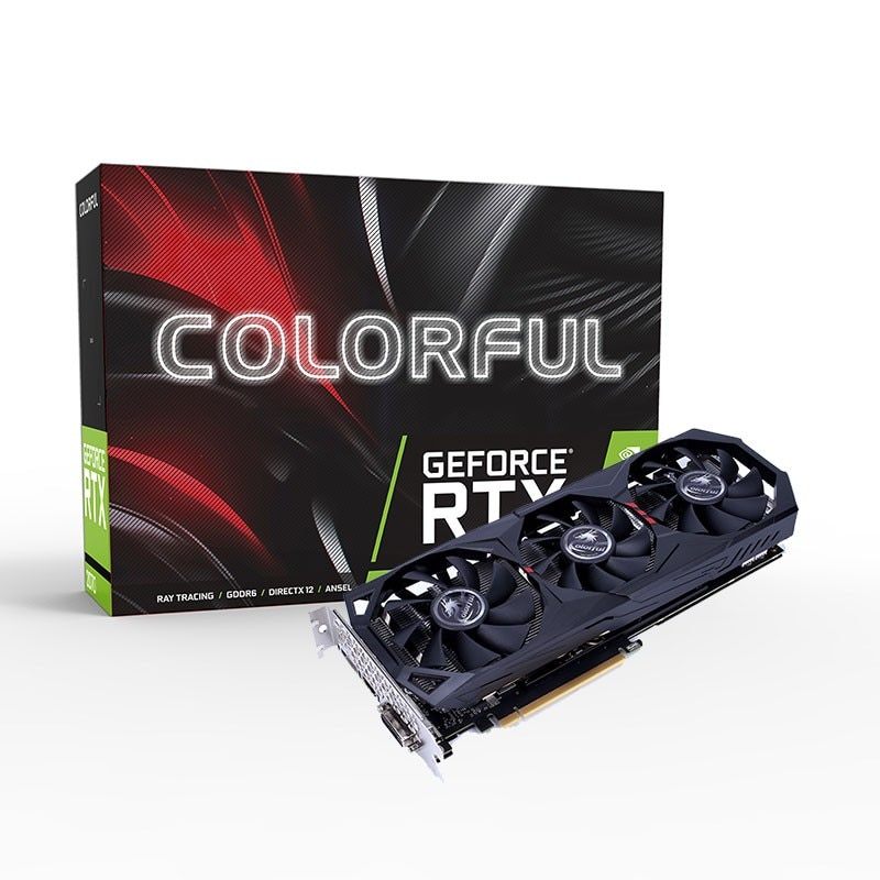 Colorful RTX 2060 Gaming ES Graphics Card GDDR6 Nvidia GPU 6G 192Bit 1365-1680MHz HDMI iGame Video C