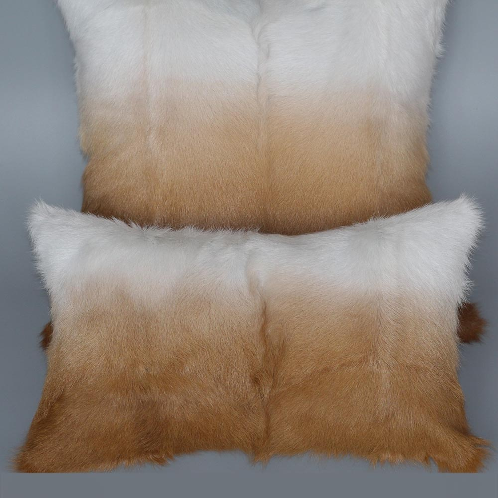 Natural Goat Fur Pillow Case Real Kid Skin Fur Cushion Cover Lamb Fur Homes Pillow Cover MS.Softex Luxury Fur Cushion