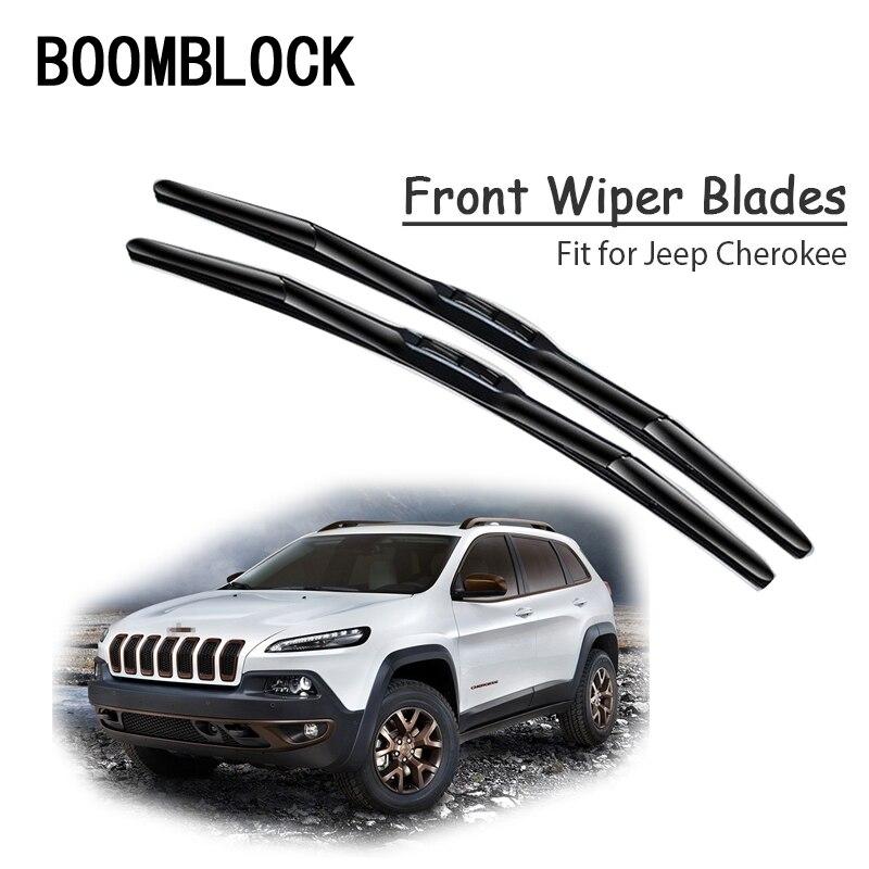 BOOMBLOCK 2 uds alta calidad limpiaparabrisas de parabrisas delantero para Jeep Cherokee KK KL 2018, 2017, 2016, 2015-2001