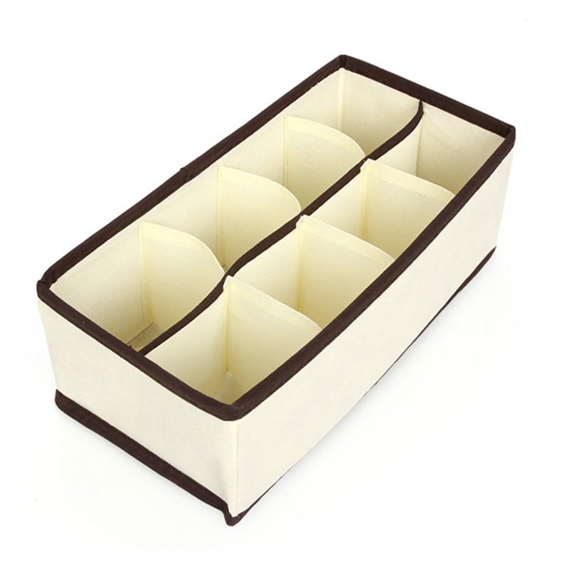 Set 4 cutii organizator cutie depozitare cutii bej organizatoare - Organizarea și depozitarea în casă - Fotografie 4