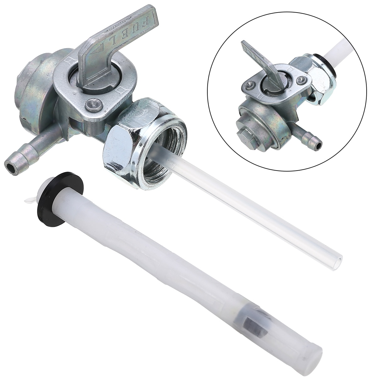 Universal 1pc para depósito de gasolina de motocicleta interruptor llave válvula llave rosca para Honda Super Sport Hondamatic