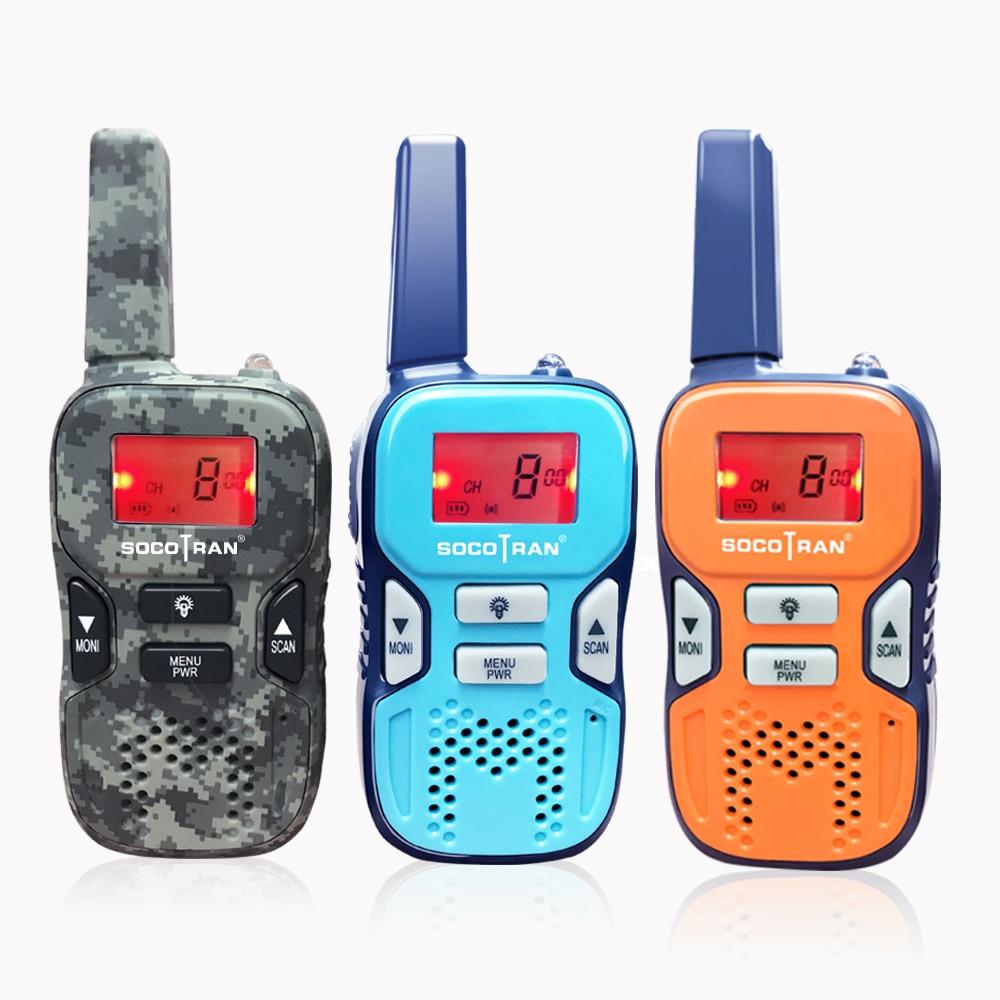 Mini estación de Radio bidireccional para niños SOCOTRAN R8 PMR446 con Walkie talkies, regalo para niños/uso familiar/Camping/senderismo 100-1500M