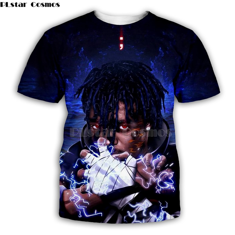 2019 nueva camiseta 3D Xxxtentacion Unisex impreso hip hop estilo Rapersinger camiseta steetwear ropa divertida-2
